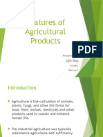 Features of Agricultural Products