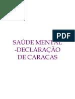SAÚDE MENTAL - Declaração de Caracas