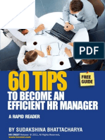 60 Tips to Become an Efficient HR by Manager Sudakshina Bhattacharya HR Crest