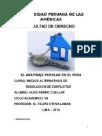 El Arbitraje Popular en El Peru