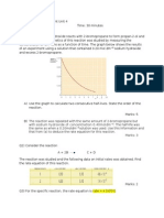 Edexcel A2 Chemistry Assessment 1 Unit 4