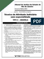 TJRJ-NM Tecnico de Atividade Judiciaria Sem Especialidade (TECATJUD) Tipo 3