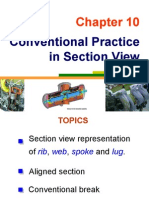 Conventional Practice  in Section View