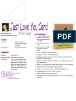 I Just Love You Card by Kryssi Ng