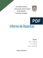 Informe de Pasantia de 4 año de Derecho