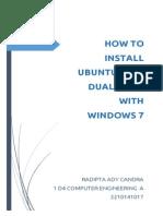 Procedure Text - dual boot ubuntu 14.04