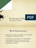 Society of Spoken Art 2015 Application