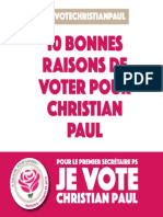 10 raisons de voter Christian PAUL