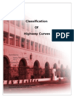 Classification Of Highway Curves