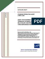 ED SPA 540 - Audit Atas Estimasi Akuntansi, Termasuk Estimasi Akuntansi Nilai Wajar, Dan Pengungkapan Yang Bersangkutan