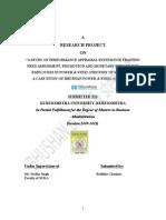 Perfomance Appraisal Reseach Report