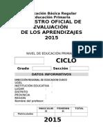 Registro Auxiliar de Evaluacion 2015