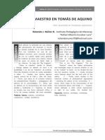 El Maestro en Tomás de Aquino. Art. de Entretemas. 2010