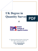 UK Degree in Quantity Surveying