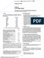 Chemical Analyzis of Copper Alloys