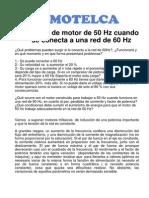 Motor 50Hz Trabajando 60Hz