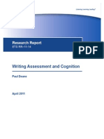Deane - 2011 - Writing Assessment and Cognition