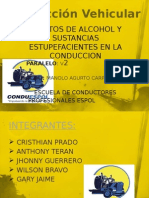 Exposicion Conduccion Vehicular alcohol