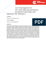 Rolling Element Bearing and Squeeze Film Damper Dynamics