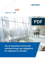Act on reporting of anti-social activities brings new obligations for employers in Slovakia