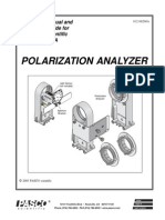 Polarization Analyzer Basic Optics Manual OS 8533A