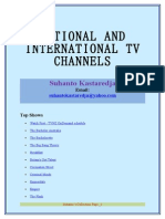 National and International Tv Channels