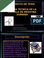 Proyecto de Tesis, Norma Tecnica Unjbg