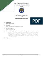 City of Douglasville Special Meeting Agenda May 28