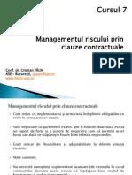 Cursul 7_Managementul Riscurilor Prin Clauze