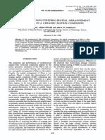 Non uniform spatial arrangement of fibres