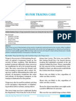Triage Systems for Trauma Care