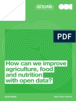 How can we improve agriculture, food and nutrition with open data?