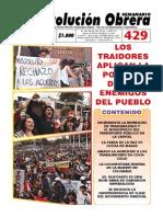 Semanario Revolución Obrera Edición No. 429