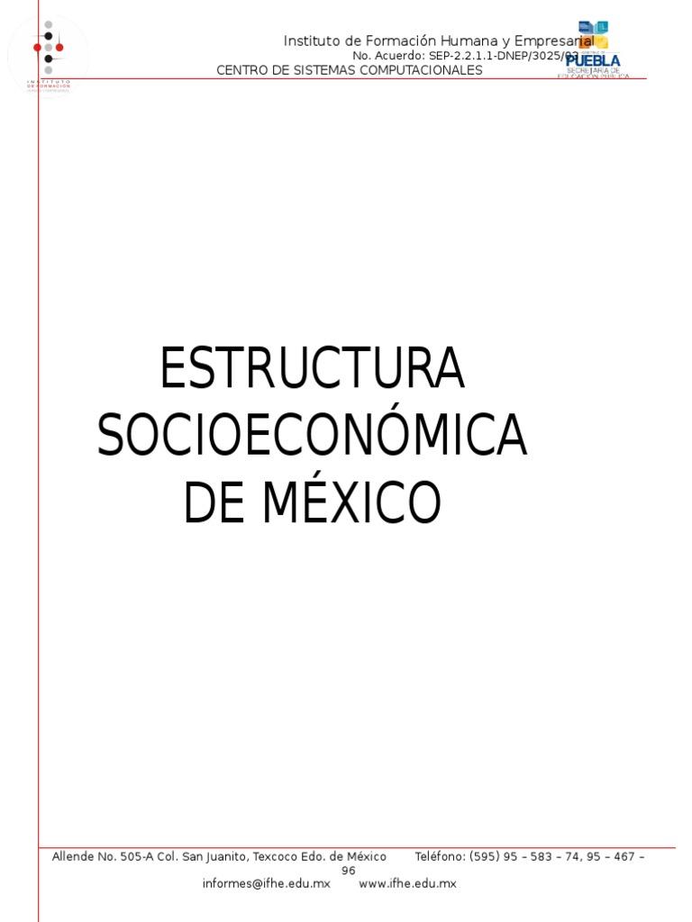 Estructura Socioeconomica De Mexico México Capitalismo
