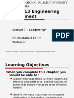 Engineering Management - Leadership Part 1