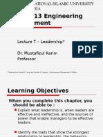 Engineering Management - Leadership Part 1