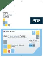 7-31-15 - Dallas Oral Cancer Seminar