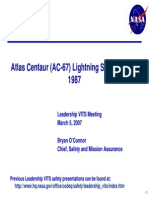 Atlas Centaur (AC-67) Lightning Strike Mishap 1987