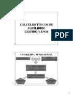 Cálculos ELV equilibrio liquido vapor