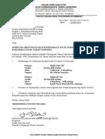Surat Jemputan Majlis Persaraan Cikgu Nordin
