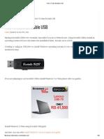 How to Make Bootable USB
