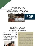 Examen Parcial TERCER CICLO de PSICOLOGIA EVOLUTIVA UNASAM 2015 1Desarrollo Cognoscitivo Del Adol