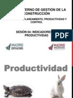 Sesión 04 - Indicadores de Productividad