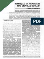 Reconstrução Da Realidade Nas Ciências Sociais - Florestan Fernandes