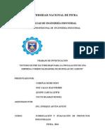 estudio de prefactibilidad para la instalacion de una planta procesadora de Hojuelas de Camote