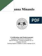 b  minando resume 2015 pdf