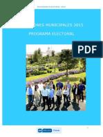 Programa Electoral 2015 PP Cheste