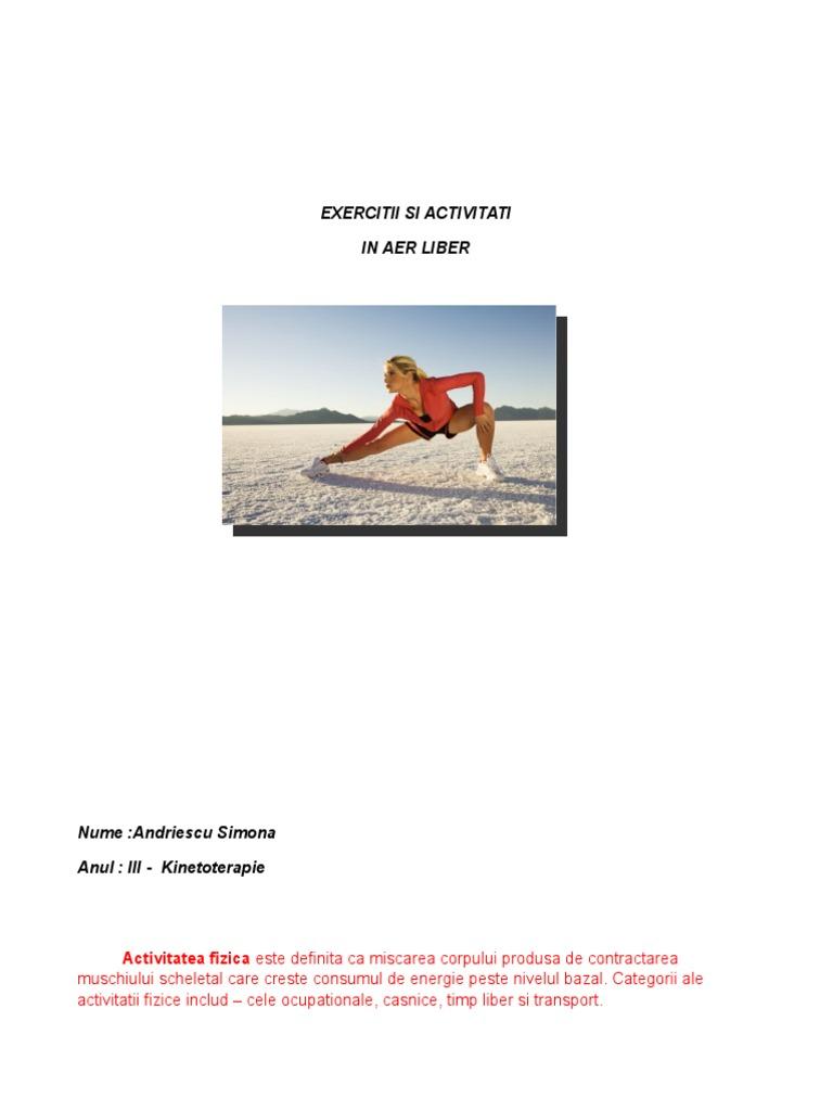 activități în aer liber pentru a pierde în greutate