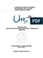 Análisis de Capacidad Del Proceso y de Sistema de Medición