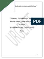 Protocolo Sobre Violencia Manuel Montt, Urgente
